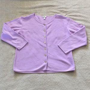 J. Jill Sweaters - 🚫SOLD🚫J. Jill Lavender Button Up Cardigan XSP